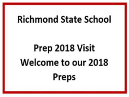 Welcome 2018 Prep students
